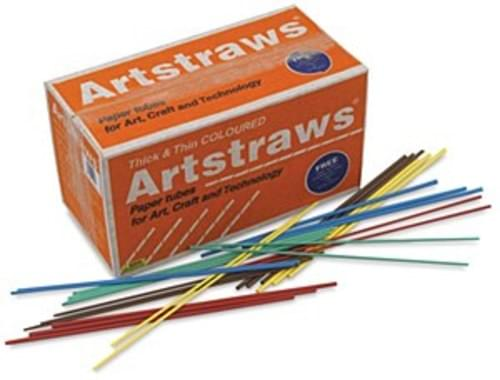 Coloured art straws various size 1760