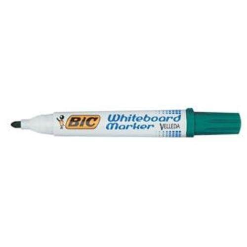 Bic Velleda Whiteboard Chisel Tip Markers Green box 12