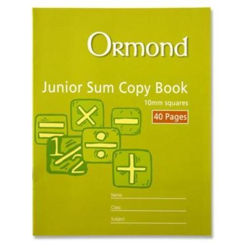 10MM sq Junior sum copy, 40 page