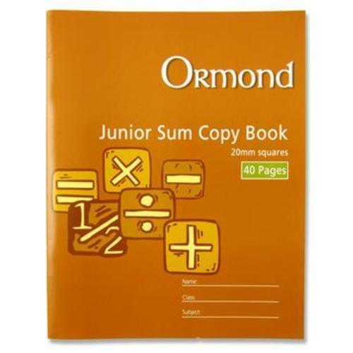 20MM sq Junior Sum Copy, 40 page