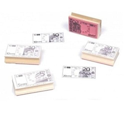 Euro Notes  Rubber stamp kit, pack 3,