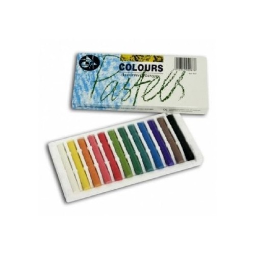 Colour pastels, assorted coloured pastels 12
