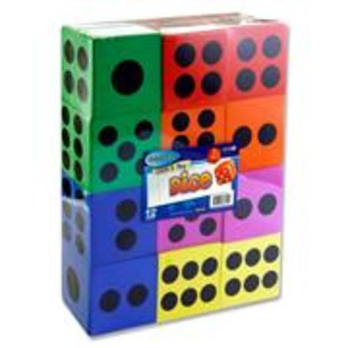 Clever Kids Foam Dice 60mm, pack 12
