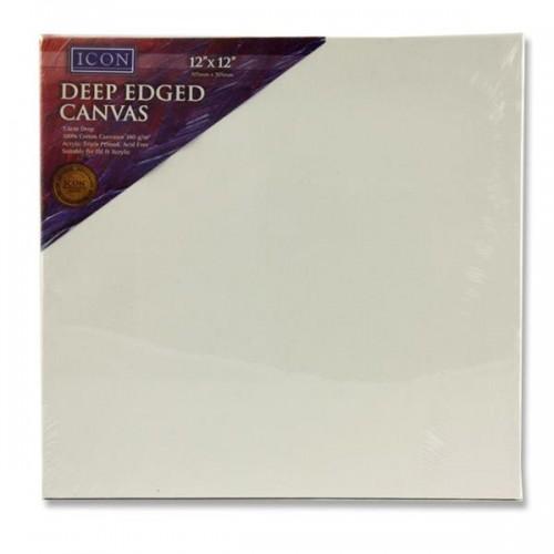 "Icon Deep Edged Canvas 380gm2 - 12""x12"""