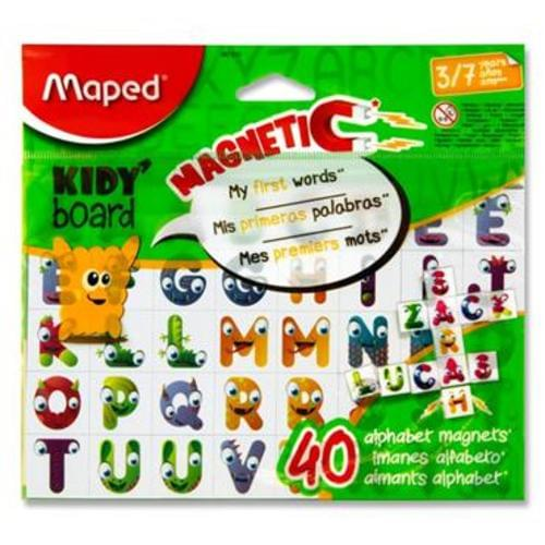 MAPED KIDY BOARD PKT.40 MAGNETIC LETTERS