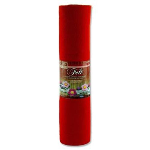 ICON CRAFT 45cm x 5m ROLL FELT - RED