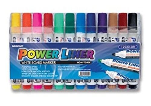 Mungyo Whiteboard Markers  12 Vivid Colours
