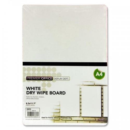 Premier Office A4 White Dry Wipe Board - White
