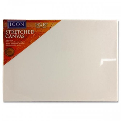 """Icon Stretched Canvas 380gm2 - 14""""x10"""""""