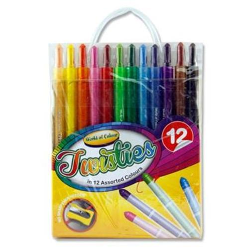 WOC PKT.12 TWISTIES CRAYONS