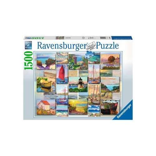 Ravensburger  Coastal Collage 1500 Piece Jigsaw Puzzle