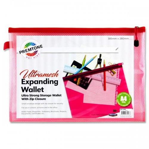 Premtone B4+ Ultramesh Expanding Wallet - Hot Pink