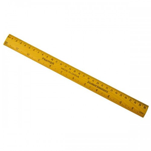 "Student Solutions 12"" Wooden Ruler"