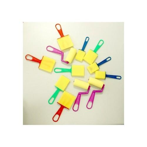 Sponge Dabbers & Rollers Pack pack 12