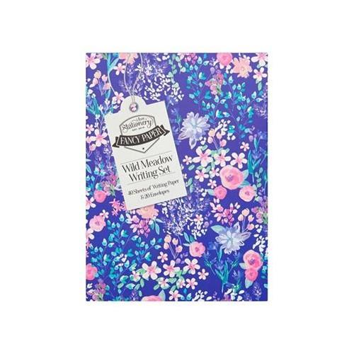 A5 Writing Set & Envelopes - Lilac & Roses