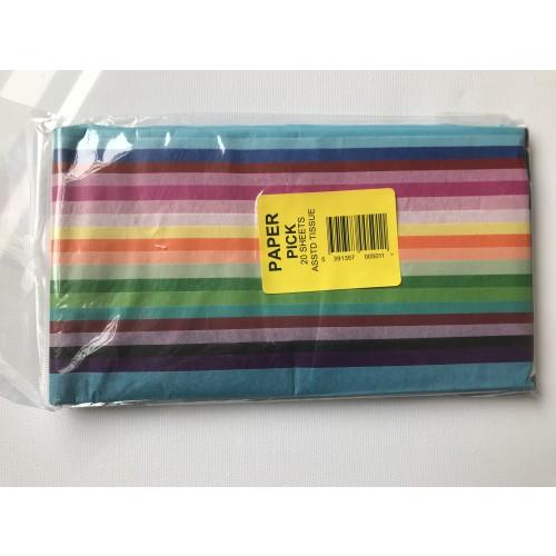 "Tissue Paper 20x30"" pack 20 sheet"