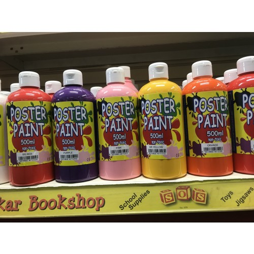 Red Poster Paint 500ml
