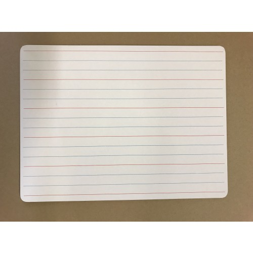 A4 White Board D/S one side learn to write - blank white on reverse side