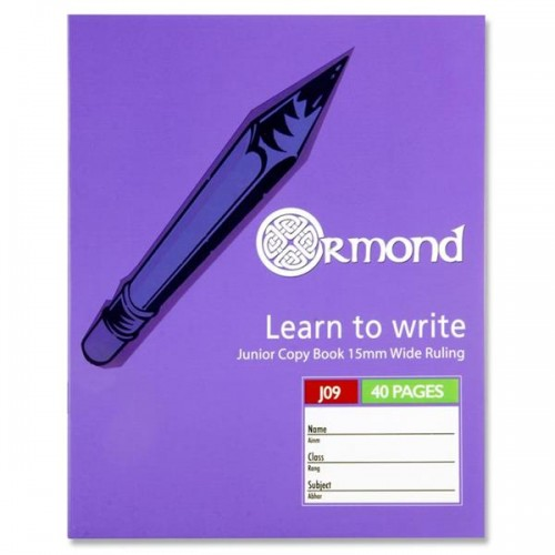 Ormond 40pg J09 Junior Copy Book