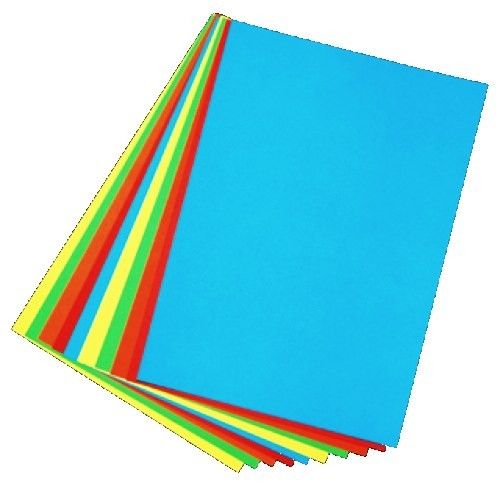 A4 Assorted coloured card (pastel)pk50