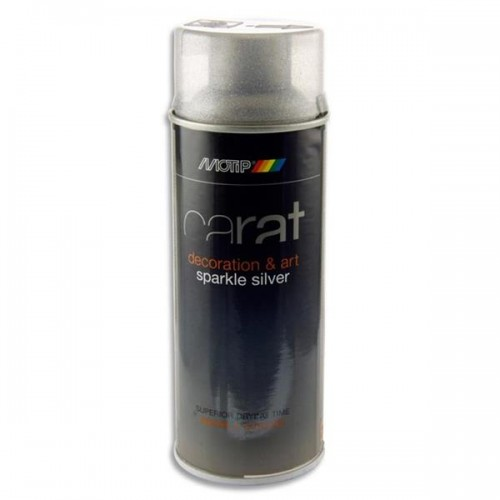 Carat 400ml Can Art Spray Paint - Silver