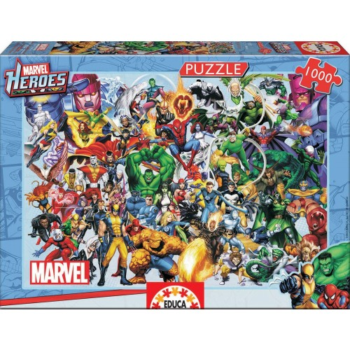 Collage of Marvel Heroes 1000pcs