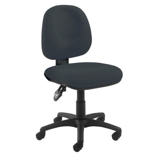 Office chair with standard mechanism -  charcoal upholstery.