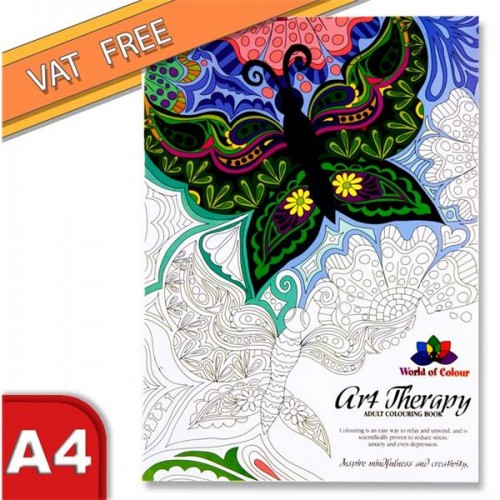 Woc 48pg Art Therapy Adult Colouring Book