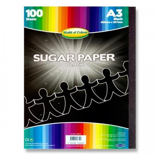 A/3 Black Sugar paper pk 250