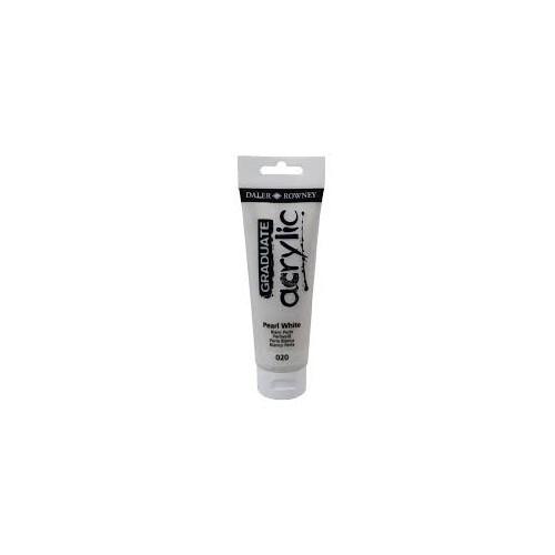 Daler-Rowney Pearl White Graduate Acrylic 120ml