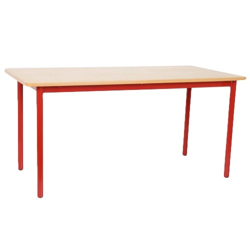 NATIONAL SCHOOL TABLE 1200X600X600MMM, RED