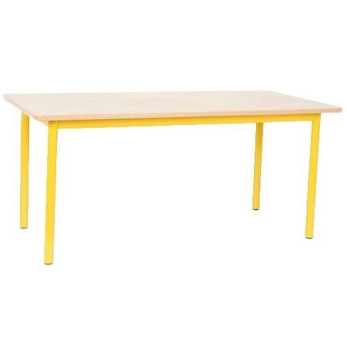 NATIONAL SCHOOL TABLE 1200X600X550MM, YELLOW