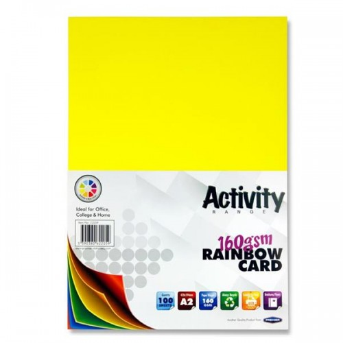 A2 Coloured Card pack 100