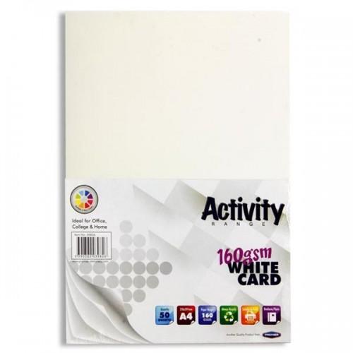 A4 White card pk 50