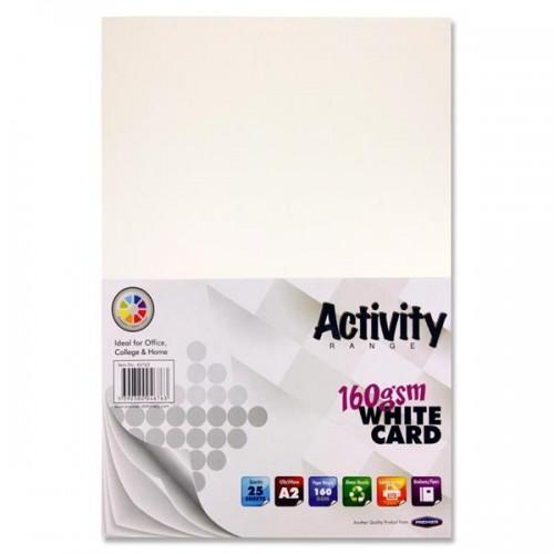 A3 White card pk 25