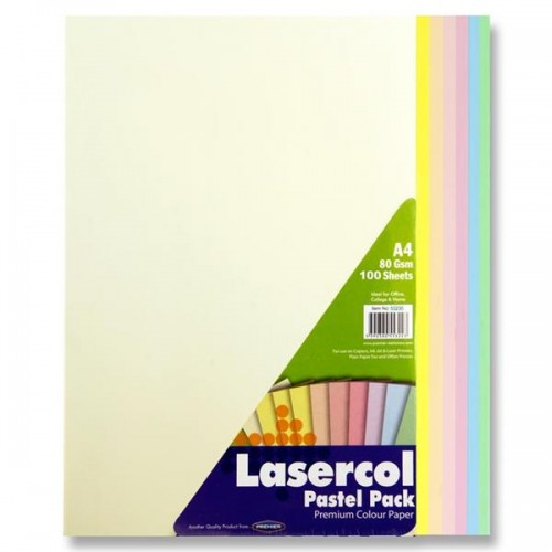 A4 80gsm Colour Paper 100 Sheets - Pastel