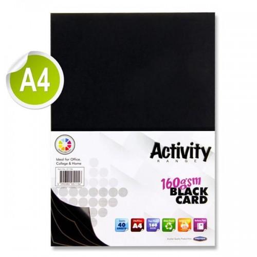 A4 BLACK CARD PACK 50