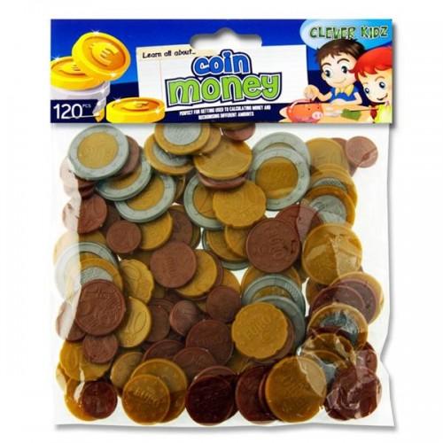 Clever Kidz Pkt.120 Coin Euro Money Set