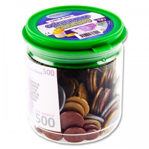 Clever Kidz 190pce Tub Coin & Paper Euro Money Set