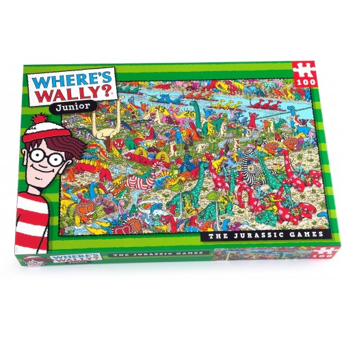 Where's Wally Junior Jurassic 100pcs Jigsaw