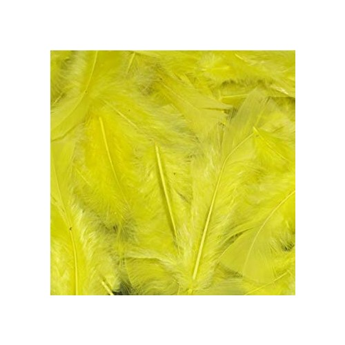 Feathers Yellow  pack 200