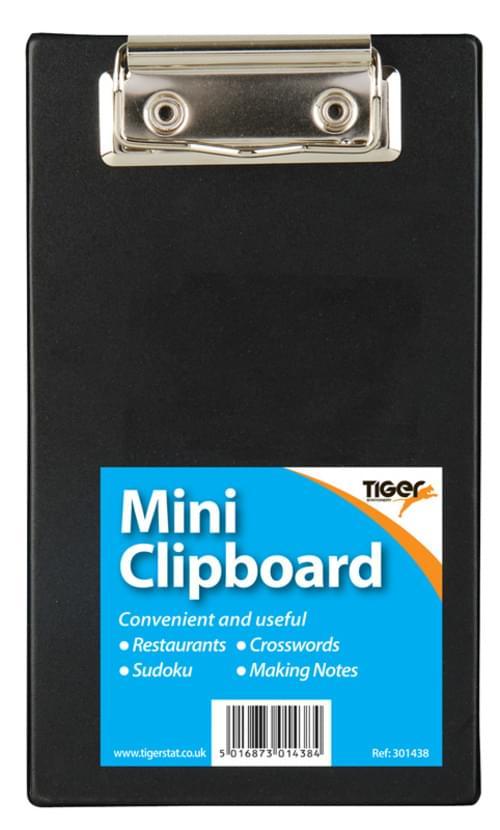 Mini PVC Clipboard Black