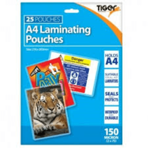 TIGER A4 LAMINATING POUCHES 25