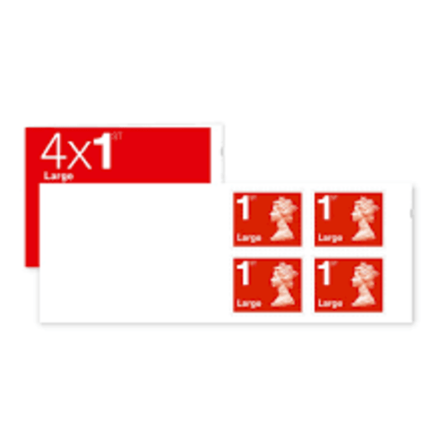 ROYAL MAIL UK FIRST CLASS LARGE LETTER POSTAGE STAMP 4
