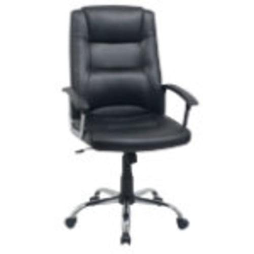 BETTY LEATHER FACED EXECUTIVE CHAIR BLACK