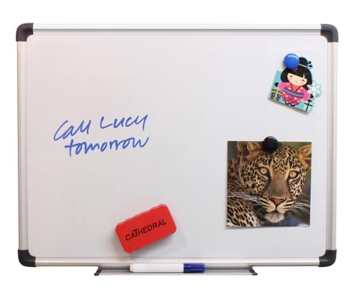CATHEDRAL MAGNETIC WHITEBOARD 600MM X 450MM