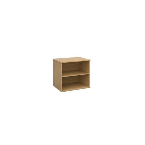 Deluxe desk high bookcase 600mm deep, oak, slight damage - ONE ONLY