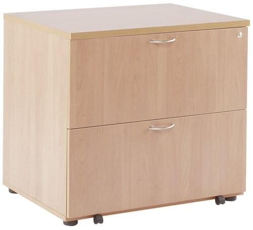 Alana 2 Drawer Desk High Side Filer Beech