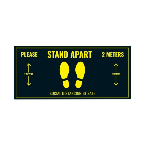 Social Distancing Floor Sticker 400mm x 180mm PK5