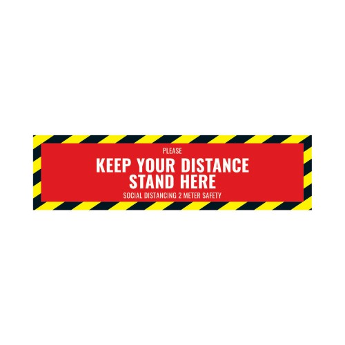 Social Distancing Floor Sticker 500mm x 130mm PK5